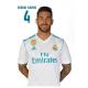 Real Madrid Postal Sergio Ramos.