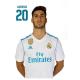 Postal de Asensio del Real Madrid.