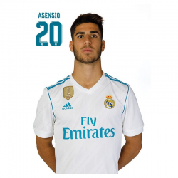 Real Madrid Postal Asensio.