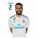 Carte postale Carvajal Real Madrid.