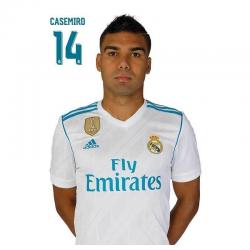 Real Madrid Postal Casemiro.