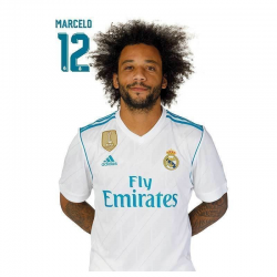 Postal de Marcelo del Real Madrid.