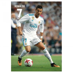 Carte postale Ronaldo Real Madrid.