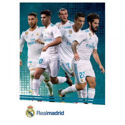 Carte postale équipe Real Madrid.
