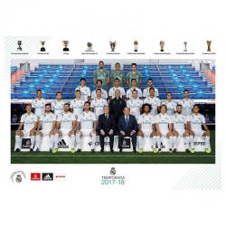Postal de la plantilla del Real Madrid.