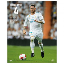 Real Madrid Poster Sergio Ramos.