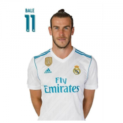 Postal de Bale del Real Madrid.