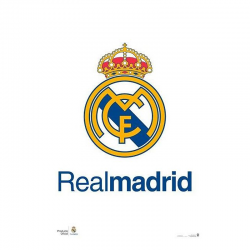 Affiche logo Real Madrid.