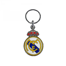 Llavero de metal del Real Madrid.