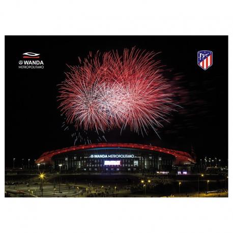 Postal del Metropolitano del Atlético de Madrid.