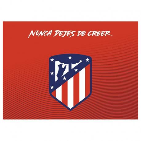 Postal del Escudo del Atlético de Madrid.