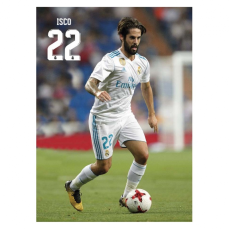 Postal de Isco del Real Madrid.