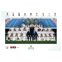 Affiche équipe Real Madrid 2017-18.