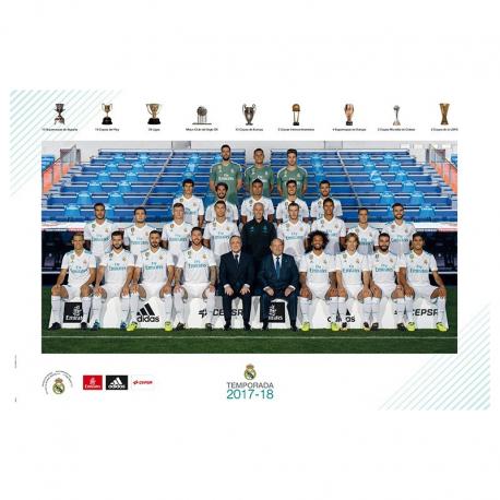 Affiche équipe Real Madrid 2017-18.