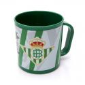 Taza de plástico del Real Betis.