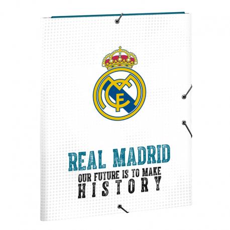 Carpeta de gomas y solapas del Real Madrid.