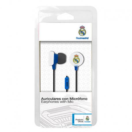 Auriculares de botón del Real Madrid.