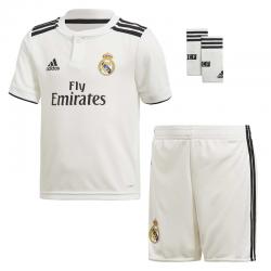 Conjunto niño 1ª equipación Real Madrid 2018-19.