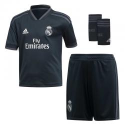 Conjunto niño 2ª equipación Real Madrid 2018-19.