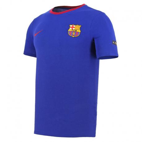 Camiseta algodón adulto F.C. Barcelona 2018-19.
