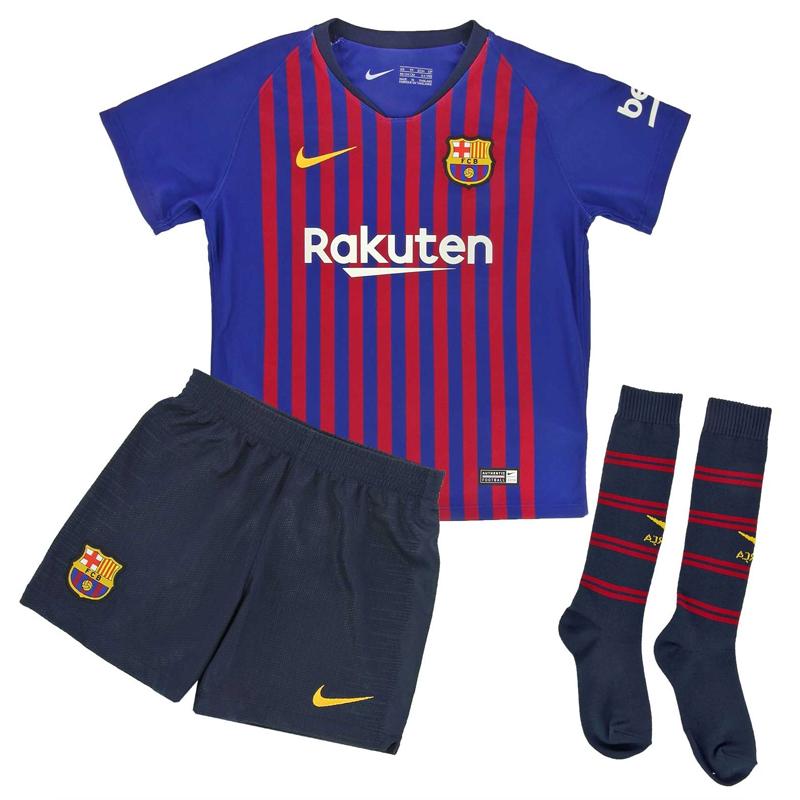 Minikit niños pequeños 1ª equipación F.C. Barcelona 2018-19. 9d6b6529028