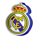 Cojín escudo del Real Madrid.