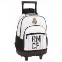 Mochila grande con ruedas compact del Real Madrid.