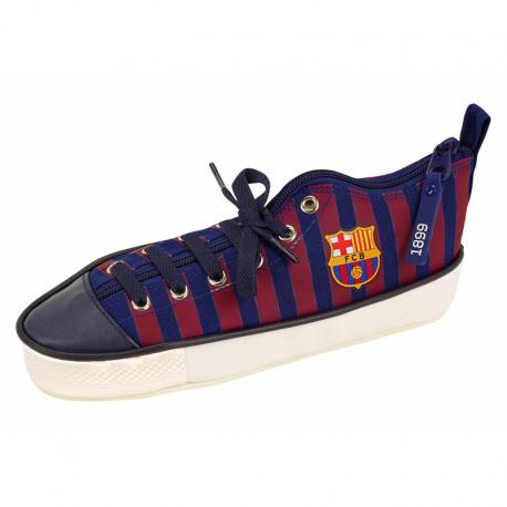 Estuche zapatilla del F.C.Barcelona.
