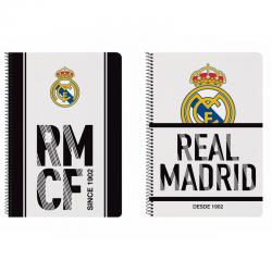 Cuaderno espiral dina A4 del Real Madrid.