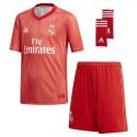 Conjunto niño 3ª equipación Real Madrid 2018-19.