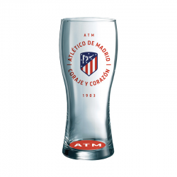 Atlético de Madrid Beer Large glass.