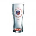 Vaso grande cerveza del Atlético de Madrid.