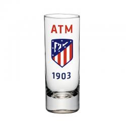 Vaso de chupito del Atlético de Madrid.
