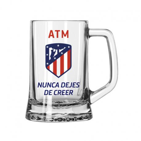 Jarra de cerveza mediana del Atlético de Madrid.