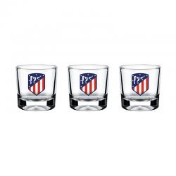 Estuche de 3 chupitos del Atlético de Madrid.
