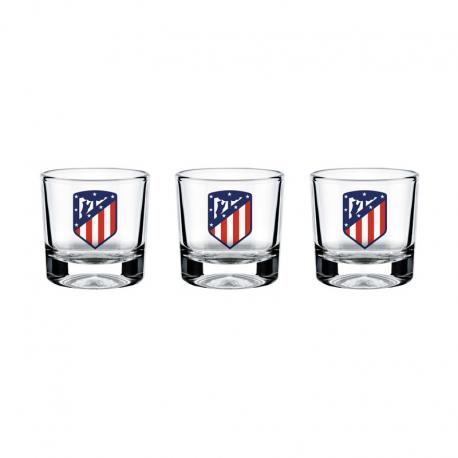 Set de 3 petit verre Atlético de Madrid.