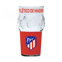 Atletico de Madrid glass.