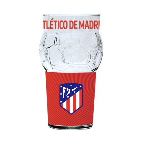 Atletico de Madrid glass.