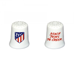 Atletico de Madrid porcelain thimble.
