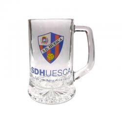 Jarra de cerveza mediana de la S.D.Huesca.