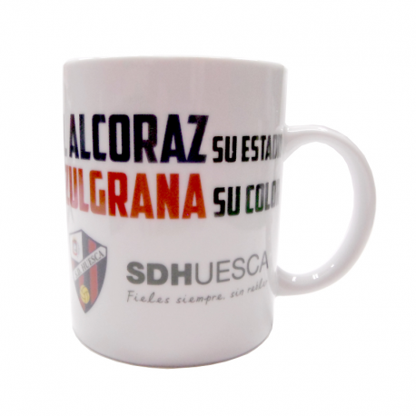 Taza mug porcelana de la S.D.Huesca.