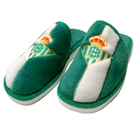 Real Betis Slippers at home.