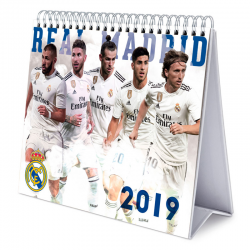 Calendario sobremesa 2019 del Real Madrid.