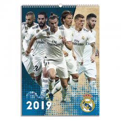 Calendario de pared 2019 del Real Madrid.