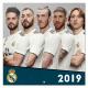 Real Madrid Wall calendar 2019.