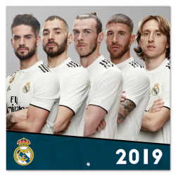 Real Madrid Wall calendar 2019.