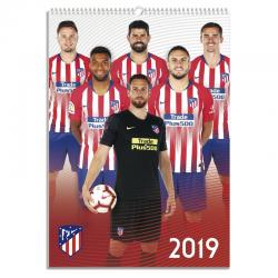 Calendrier Mural 2019 Atlético de Madrid.