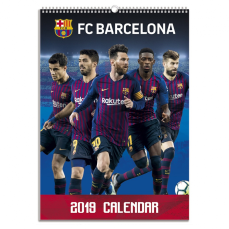 Calendario de pared 2019 del F.C.Barcelona.