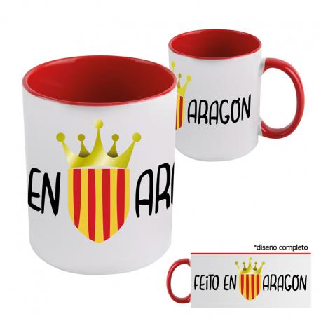 Taza mug porcelana Feito en Aragón.