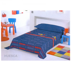 Juego de sábanas 90 cm. de la S.D.Huesca.